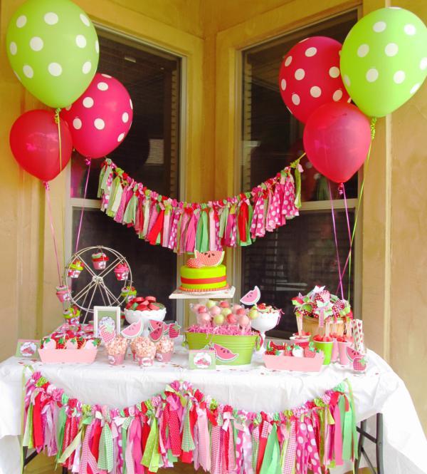 Karas Party Ideas Watermelon And Strawberry Summer Party Karas