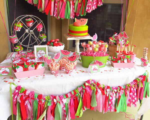 Karas Party Ideas Watermelon and Strawberry Summer Party Karas