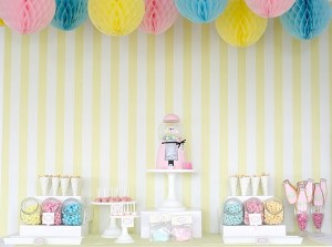 bubble gum soda shoppe birthday party via Kara's Party Ideas KarasPartyIdeas.com