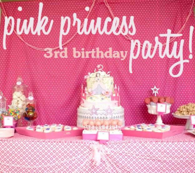 pink-princess-third-3rd-birthday-party-ideas-theme-cake-backdrop-dessert-table
