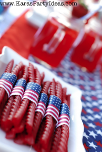 4th of July licorice treats