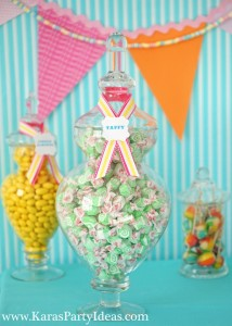 Sweet Shoppe Candy themed birthday party via Kara's Party Ideas karaspartyideas.com #sweet #shoppe #candy #party #dessert #table #birthday #party #ideas #supplies 2 (34)