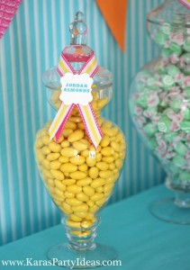 Sweet Shoppe Candy themed birthday party via Kara's Party Ideas karaspartyideas.com #sweet #shoppe #candy #party #dessert #table #birthday #party #ideas #supplies 2 (18)