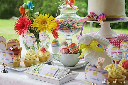 Kara s party ideas easter dessert table decorations