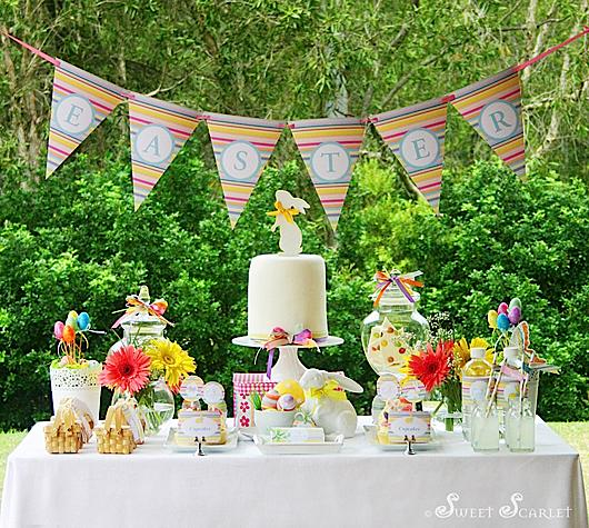 Karas Party Ideas Easter Dessert Table Decorations