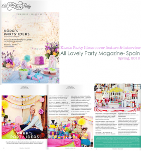 Kara's Party Ideas in All Lovely Party Magazine - Spain. Kara Allen.
