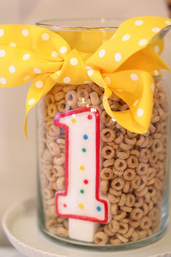 Kara S Party Ideas Cheerios Themed First Birthday Party