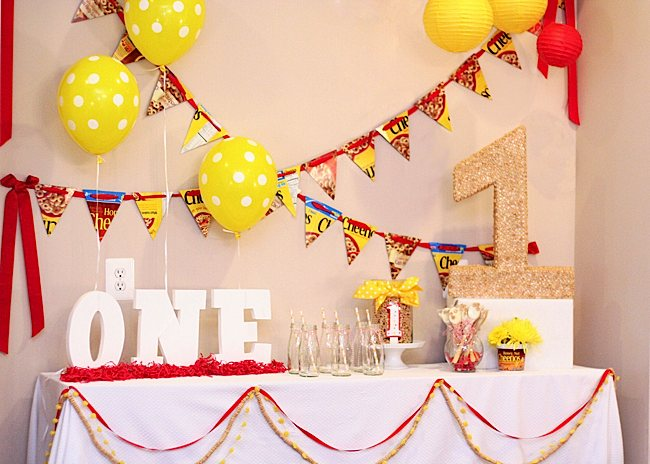 Kara 39 s party ideas cheerios themed first birthday party for 1 year birthday decoration