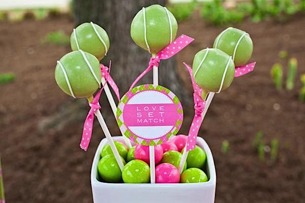 I Thought This Take On Cake Balls For A Tennis Party Was Really Clever Featured At Karas Ideas