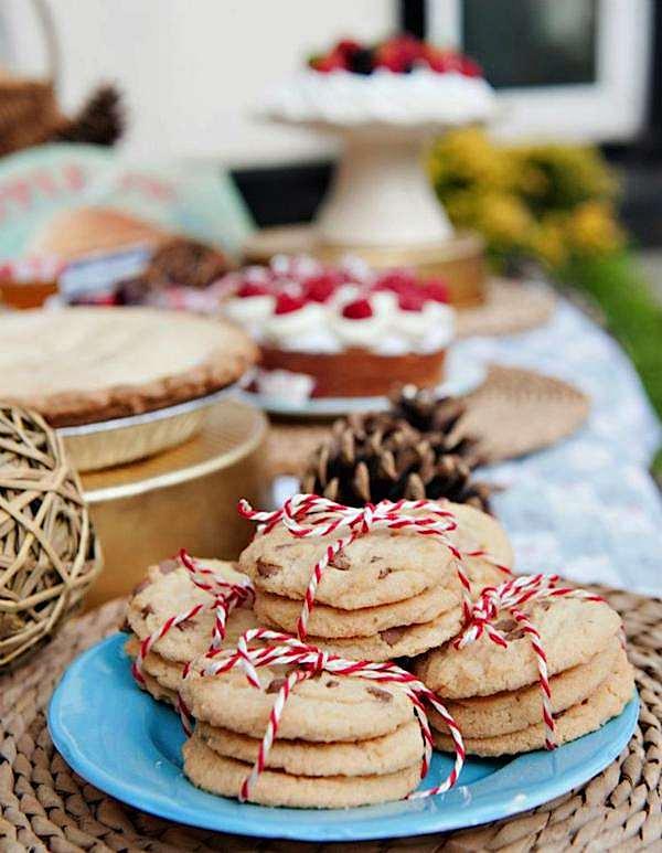 presentar comida fiesta baker's twine
