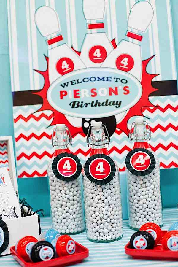 Kara S Party Ideas Retro 4th Birthday Bowling Party Kara