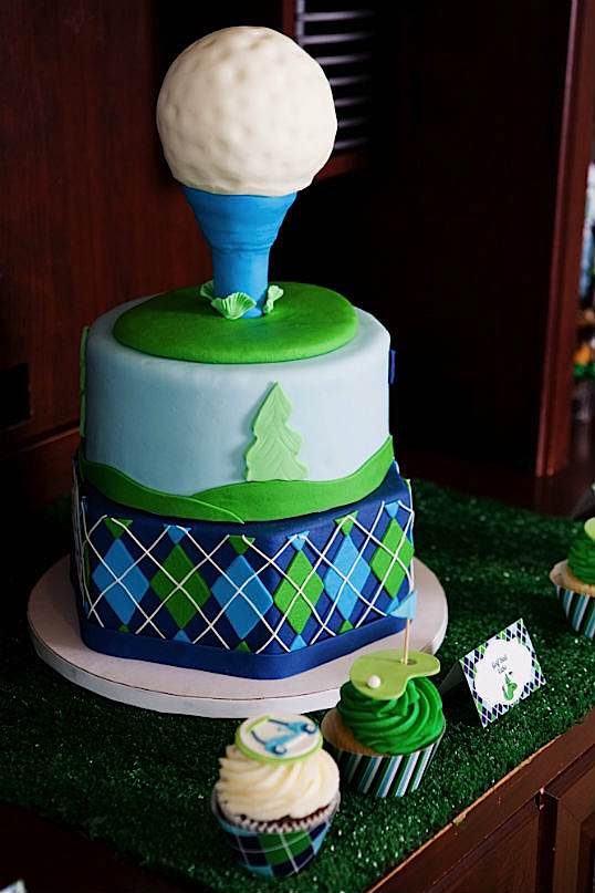 Golf Themed Cake Images : Kara s Party Ideas Father s Day Golf Par-Tee Kara s ...