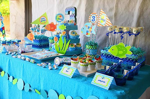 Kara's Party Ideas Rainbow Fish 3rd Birthday Party Kara's Party Ideas