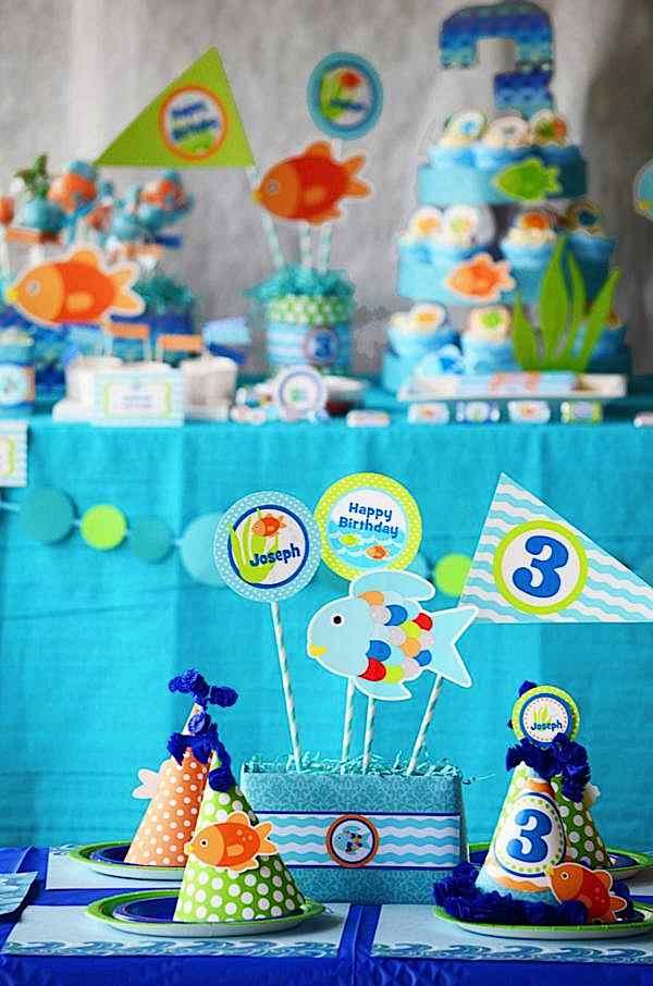 Kara S Party Ideas Rainbow Fish 3rd Birthday Party Kara