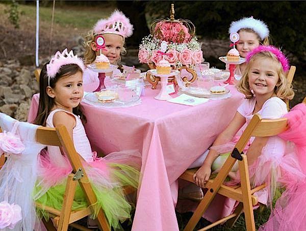Kara 39 s party ideas pink princess tea party kara 39 s party for Princess birthday party crafts