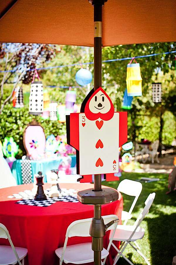 Kara 39 s party ideas mad hatter tea party kara 39 s party ideas for Alice in wonderland tea party decoration ideas