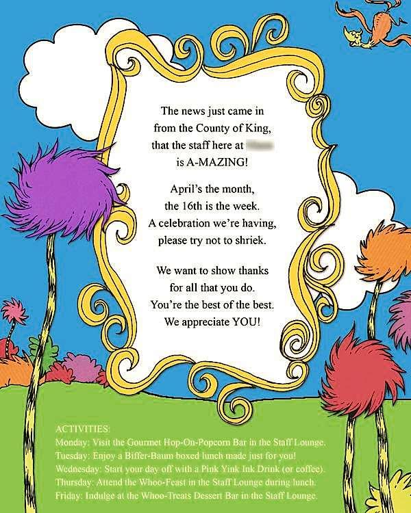 Kara S Party Ideas Dr Seuss Themed Teacher Appreciation Celebration
