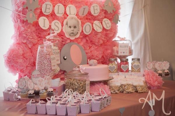 Kara S Party Ideas Pink Elephant 1st Birthday Party Kara
