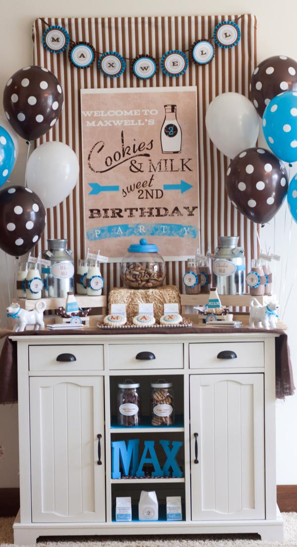 This COOKIES AND MILK 2ND BIRTHDAY PARTY