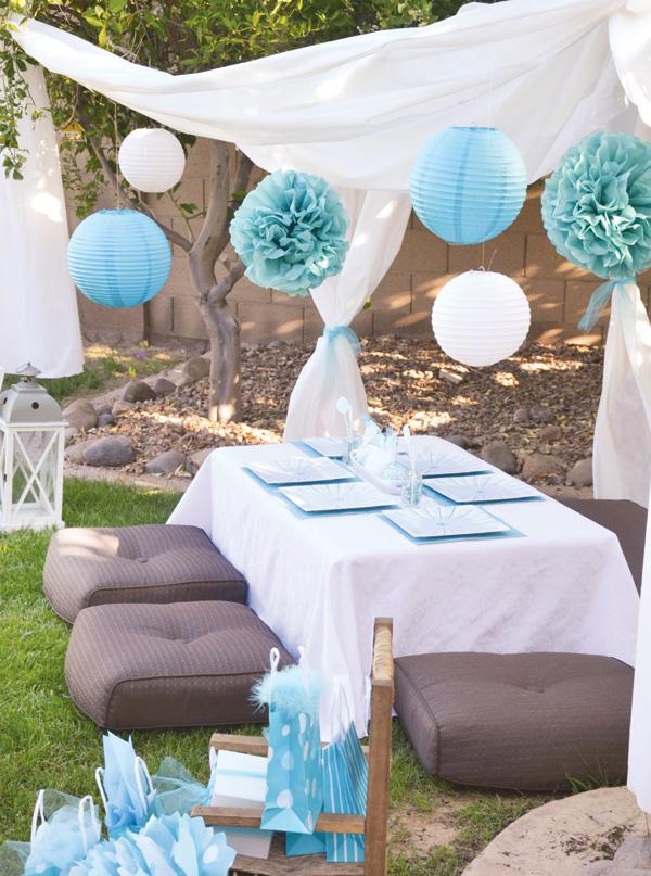 Party ideas engagement on pinterest engagement parties for Baby shower canopy decoration
