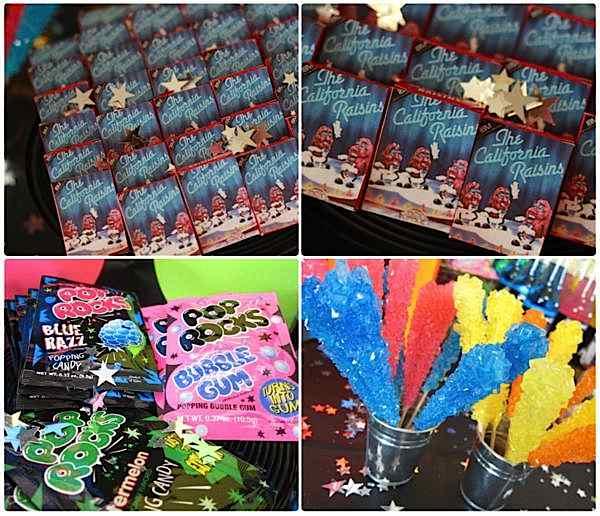 kara u0026 39 s party ideas 80 u0026 39 s rock star neon rocks adult teen birthday party planning ideas