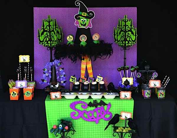 Partyscape from The Witch is In Children's Halloween Party at Kara's Party Ideas