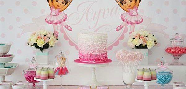 Dora Ballerina 3rd Birthday Party October 23