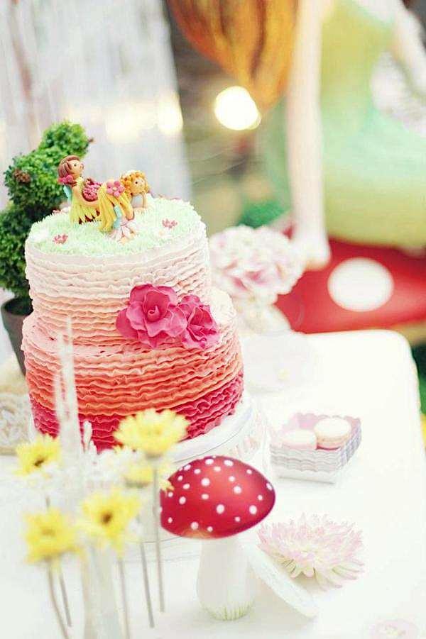Karas Party Ideas Enchanted Fairy Garden Girl Woodland Birthday
