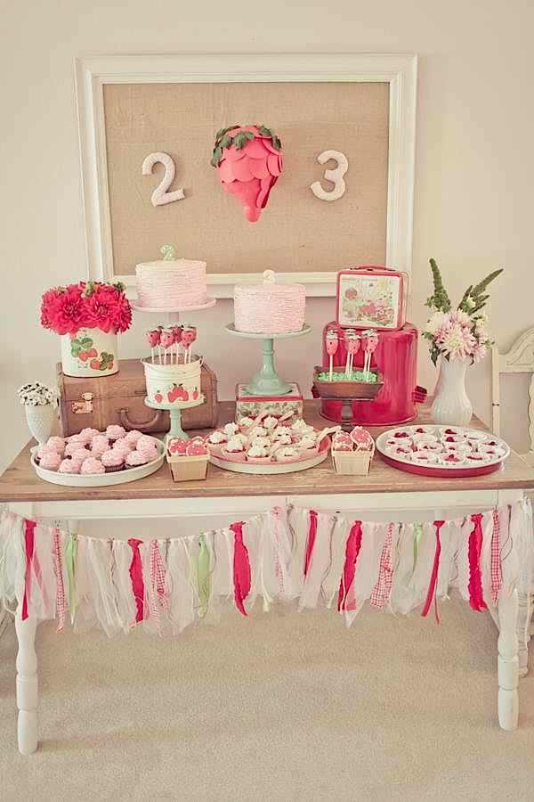 Vintage Strawberry Shortcake Themed Birthday Party Planning via Kara's Party Ideas - www.KarasPartyIdeas.com