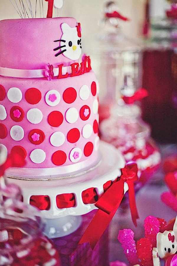 Karas Party Ideas Hello Kitty Girl Pink Birthday Party Planning Ideas