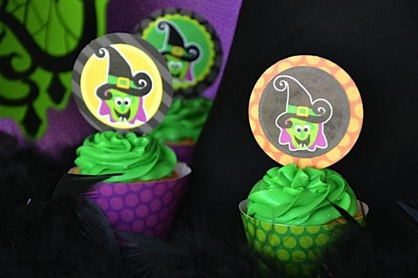 Cupcakes from The Witch is In Children's Halloween Party at Kara's Party Ideas