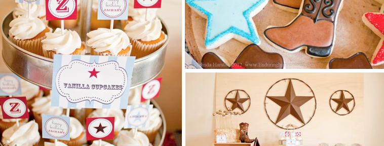 Cowboy Western 3rd Birthday Party via Kara's Party Ideas - www.KarasPartyIdeas.com