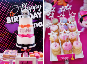 Girly rock star 7th birthday party via Kara's Party Ideas - www.KarasPartyIdeas.com