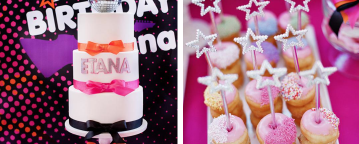 Girly rock star 7th birthday party via Kara's Party Ideas - www.KarasPartyIdeas.com