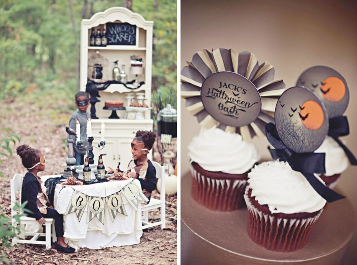 Kara 39 S Party Ideas Haunted Forest Owl Outdoor Budget