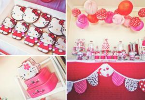 Hello Kitty Themed Birthday Party via Kara's Party Ideas - www.KarasPartyIdeas.com