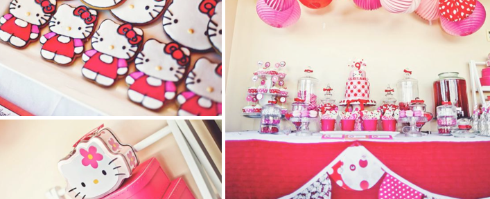 Hello Kitty Themed Birthday Party via Kara's Party Ideas - www.KarasPartyIdeas.com