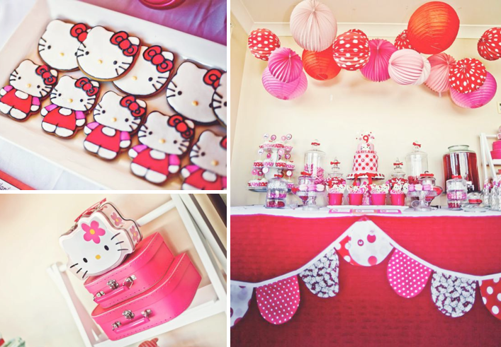 Karas Party Ideas Hello Kitty Girl Pink Birthday