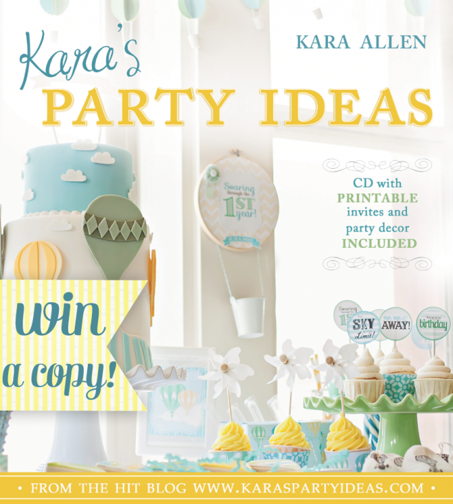 Kara's Party Ideas Surprise GIVEAWAY! 3 Copies Of Kara's