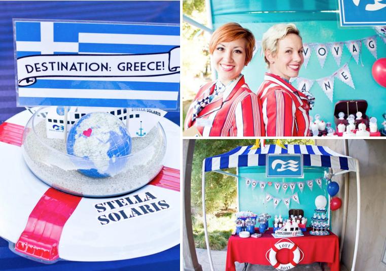 Kara S Party Ideas Love Boat Themed Bon Voyage Farewell