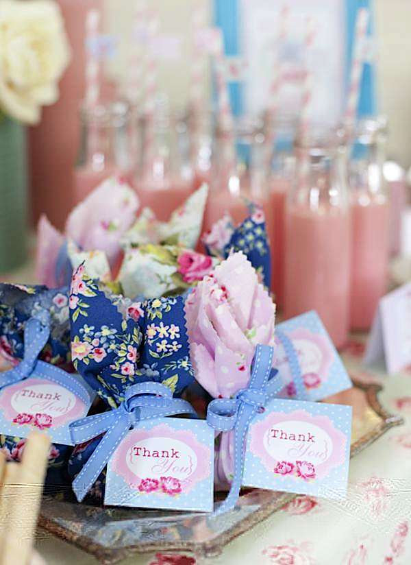 Karas Party Ideas Shabby Chic Princess Birthday Party