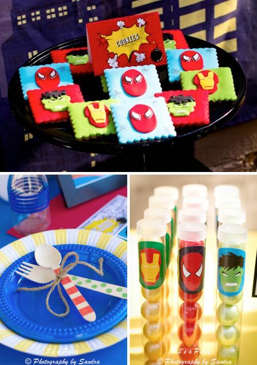 Kara's Party Ideas Superhero Avengers Ironman Hulk Boy Birthday ...