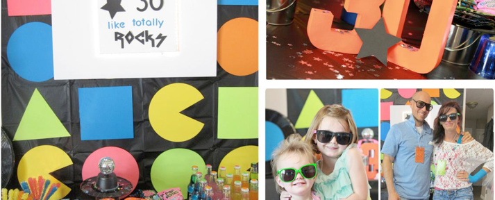 Totally Awesome 80's Themed Birthday Party via Kara's Party Ideas - www.KarasPartyIdeas.com