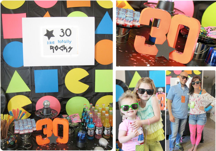 Kara 39 s party ideas 80 39 s rock star neon rocks adult teen for 80 birthday party decoration ideas
