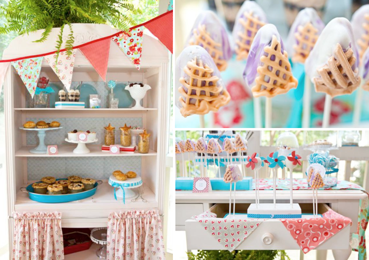 Kara S Party Ideas Vintage Pie Themed Patriotic Dessert Baby Shower Wedding