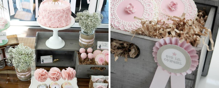Vintage Cowgirl Farm Birthday Party for girls via Kara's Party Ideas - www.KarasPartyIdeas.com