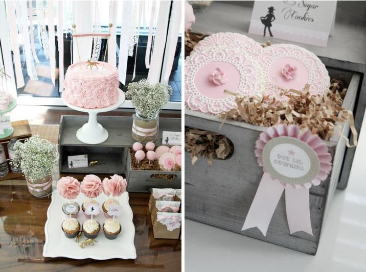 Karas Party Ideas Vintage Cowgirl Girl Horse Farm Pink Birthday Planning