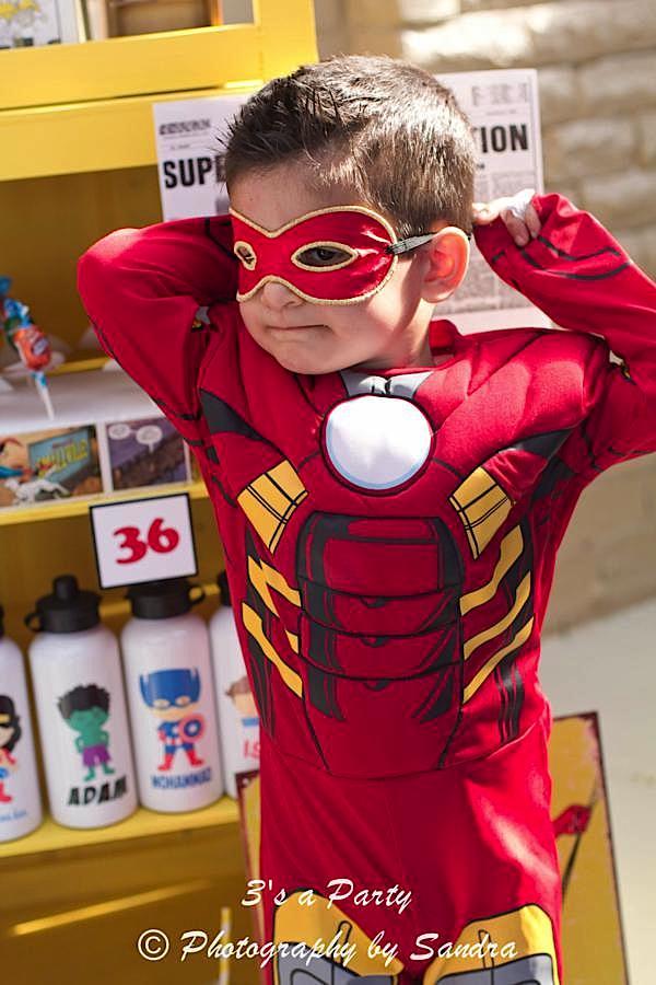 Karas Party Ideas Superhero Avengers Ironman Hulk Boy Birthday