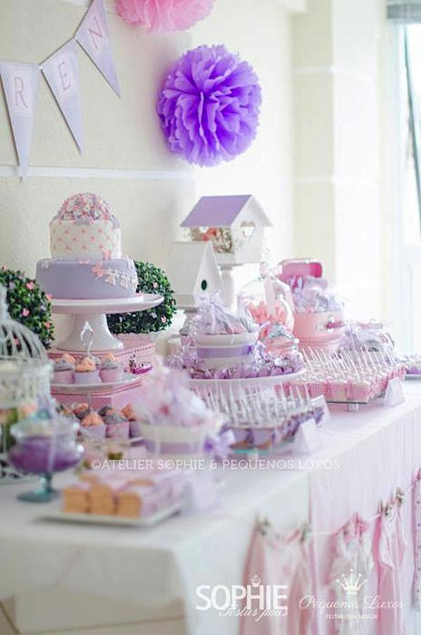this gorgeous pink lilac butterfly themed baby shower was submitted