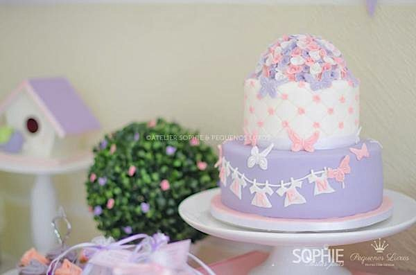 Baby Shower Cakes With Butterflies ~ Kara s party ideas pink lilac purple butterfly flowers girl baby